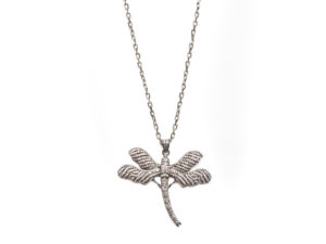 Diamond Dragonfly Necklace - Necklace - 5th and Envy