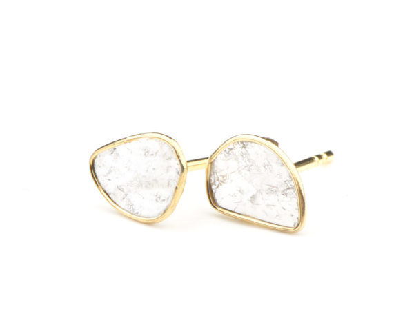 Sliced Diamond Earrings - Earrings - 5th and Envy