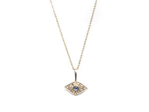 Sapphire Eye Necklace - Necklace - 5th and Envy