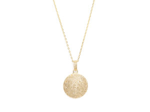 Diamond Full Moon Pendant Necklace - Necklace - 5th and Envy