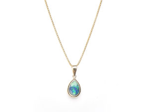 Opal Teardrop Necklace - Necklace - 5th and Envy