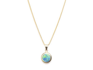 Opal Pendant Necklace - Necklace - 5th and Envy