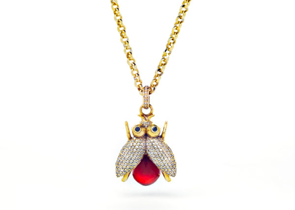 Diamond Honey Bee Necklace - Necklace - 5th and Envy