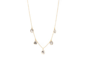 Five Elements Sliced Diamond Necklace - Necklace - 5th and Envy