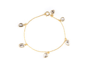 Sliced Diamond Charm Bracelet - Bracelet - 5th and Envy