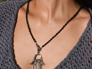 DIAMOND HAMSA NECKLACE 2