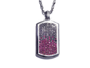 Black Diamond & Ruby Pendant - Necklace - 5th and Envy