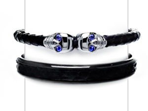 Sapphire Skull Bracelet Cuff Set - Bracelet - 5th and Envy