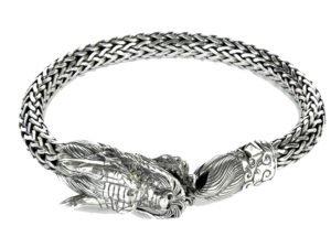 Dragon Naga Silver Bracelet - Bracelet - 5th and Envy
