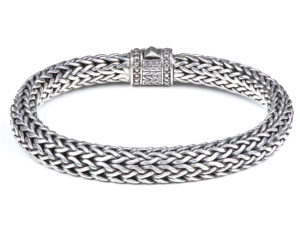 Snake Weave Silver Bracelet - Bracelet - 5th and Envy