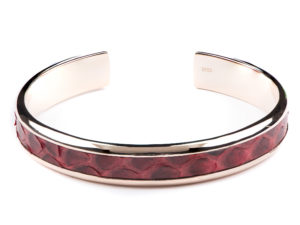 Rose Gold Cuff With Python Inlay - Cuffs - 5th and Envy