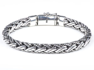 Braided Silver Chain Bracelet - Bracelet - 5th and Envy