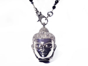 Buddha Diamond Pendant & Chain - Necklace - 5th and Envy