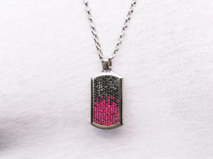 BLACK DIAMOND & RUBY PENDANT 2