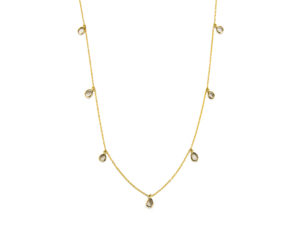 Sliced Diamond Charm Necklace - Necklace - 5th and Envy