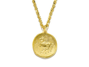 Pegasus Gold Coin Necklace - Necklace - 5th and Envy