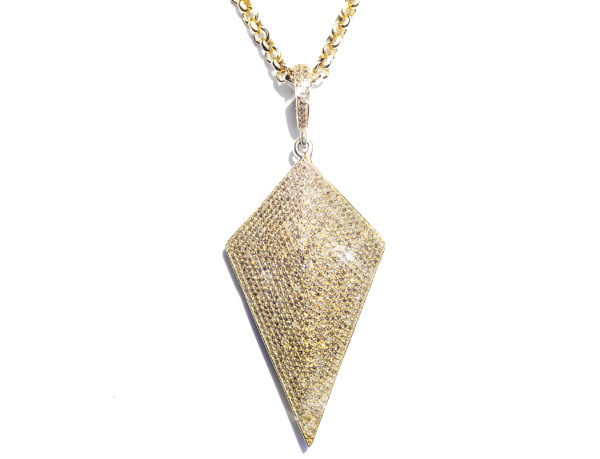 Arrow Head Diamond Pendant & Chain - Necklace - 5th and Envy