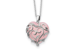 Rose Quartz Heart Necklace - Necklace - 5th and Envy